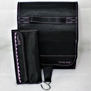 NEW Mary Kay Hanging Cosmetic Bag and Brush set